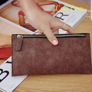 Coffee brown wallet clutch